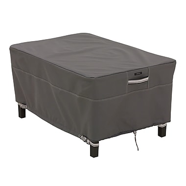 Classic Accessories® Ravenna® Patio Rectangle Ottoman Cover, Dark Taupe, Large