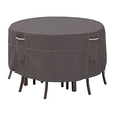 Classic Accessories Ravenna Patio Table and Chair Set Covers, Dark Taupe, Tall