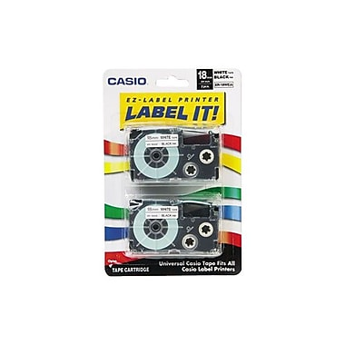 Casio® Label Maker Tapes, 18mm x 26', White
