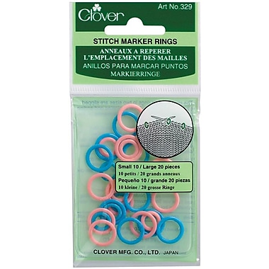 Stitch Marker Rings, Small/Large 30/Pkg