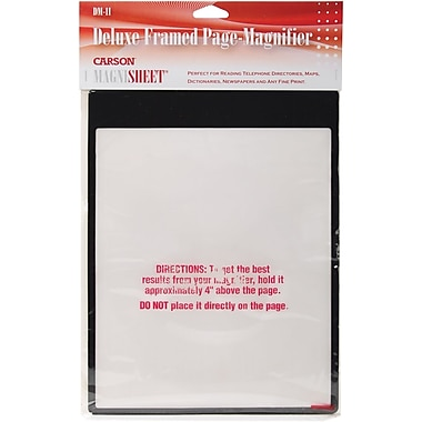 MagniSheet Deluxe Framed Page Magnifier, 10-3/4