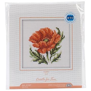Poppy Flower Counted Cross Stitch Kit, 4