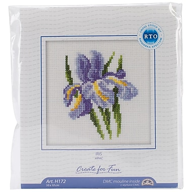 Iris Flower Counted Cross Stitch Kit, 4