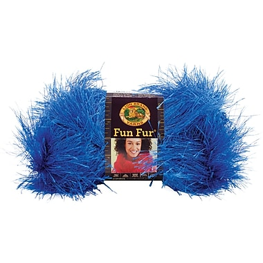 Fun Fur Yarn, Cobalt