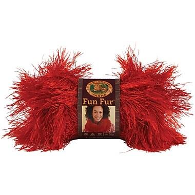 Fun Fur Yarn, Red