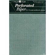"Perforated Paper 14 Count 9""X12"", Silver"
