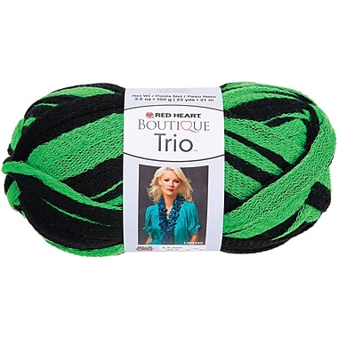 Red Heart Boutique Trio Yarn, Go Green
