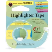 Fluorescent Highlighter Tape 1/2X720, Fluorescent Blue