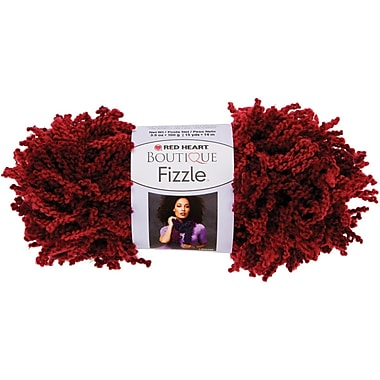 Red Heart Boutique Fizzle Yarn, Cranberries