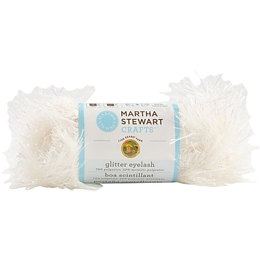 Martha Stewart Glitter Eyelash Yarn, crystal