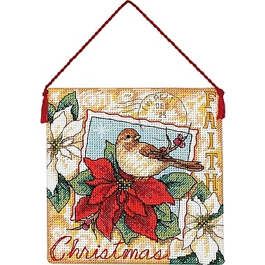 Gold Collection Petites Faith Ornament Counted Crosss Stitch-4-1/2