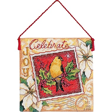 Gold Collection Petites Joy Ornament Counted Cross Stitch Ki-4-1/2