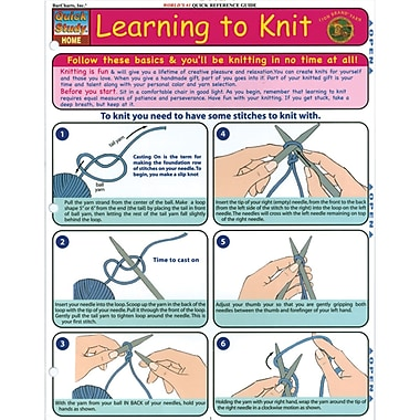Quick Study Reference Guide, Learning To Knit
