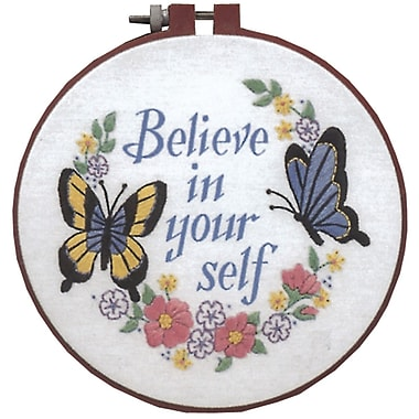 Learn-A-Craft Believe In Yourself Crewel Embroidery Kit, 6
