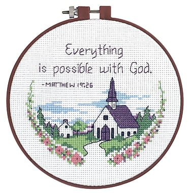 Learn-A-Craft Everything Is Possible Counted Cross Stitch Kit, 6