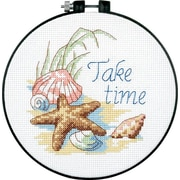"Learn-A-Craft Take Time Counted Cross Stitch Kit, 6"" Round 14 Count"