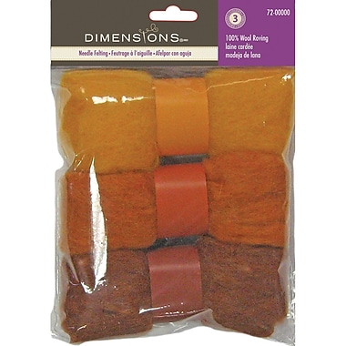 Feltworks Roving Trio Pack, Gold Rust