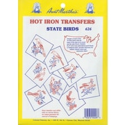 Aunt Martha's Iron-On Transfer Collections, 50 State Birds