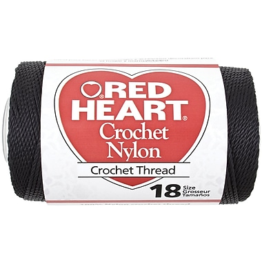 Nylon Crochet Thread Size 18 150yd, Black