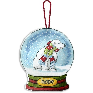 Hope Snowglobe Counted Cross Stitch Kit, 3-3/4