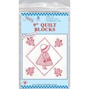 """Stamped White Quilt Blocks 9""""x9"""""""