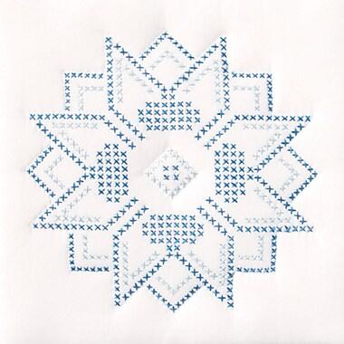 Stamped White Quilt Blocks 9