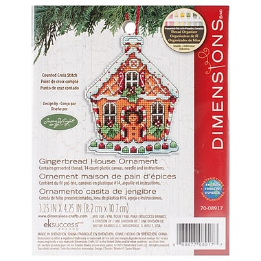 Susan Winget Gingerbread House Counted Cross Stitch Kit, 3-1/4