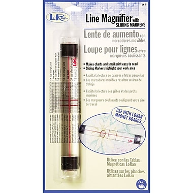 LoRan Line Magnifier With Sliding Markers, 7/8