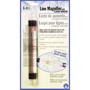 "LoRan Line Magnifier With Sliding Markers, 7/8""X6-1/2"""