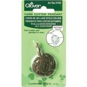 Yarn Cutter Pendant, Antique Gold