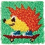 Wonderart Latch Hook Kit 12X12, Hedgehog