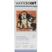 "Wonderart Latch Hook Kit 12""X12"", Best Friends"