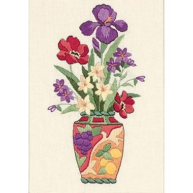 Elegant Floral Mini Crewel Kit, 5