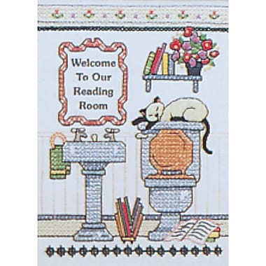 Reading Room Welcome Mini Stamped Cross Stitch Kit-5