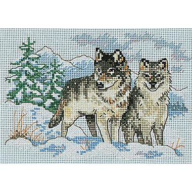 A Pair Of Wolves Mini Counted Cross Stitch Kit, 7