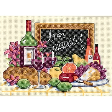Bon Appetit Mini Counted Cross Stitch Kit, 7