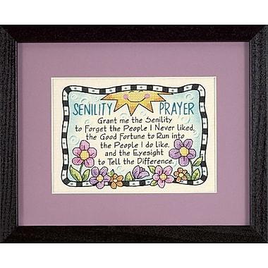 Senility Prayer Mini Stamped Cross Stitch Kit, 7