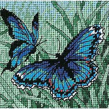 Butterfly Duo Mini Needlepoint Kit, 5