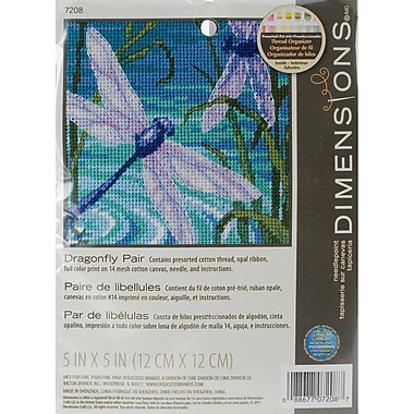 Dragonfly Pair Mini Needlepoint Kit, 5