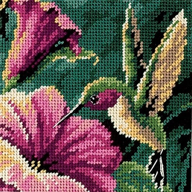 Hummingbird Drama Mini Needlepoint Kit, 5