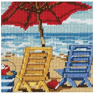 Beach Chair Duo Mini Needlepoint Kit, 5