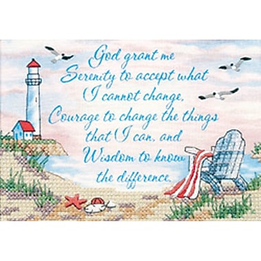 Serenity Prayer Mini Stamped Cross Stitch Kit, 7