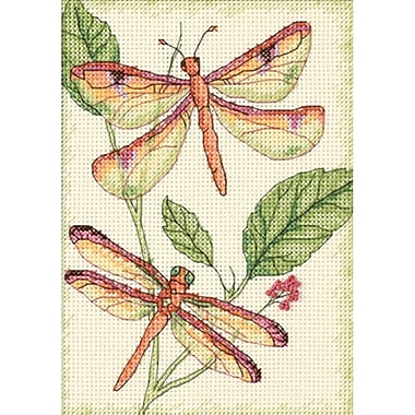 Dragonfly Duo Mini Counted Cross Stitch Kit, 5