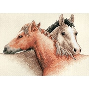 """Horse Pals Mini Counted Cross Stitch Kit, 7""""X5"""" 14 Count"""