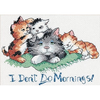 I Don't Do Mornings Mini Counted Cross Stitch Kit, 7