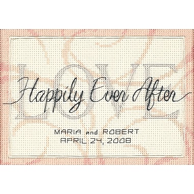 Happily Ever After Wedding Record Mini Counted Cross Stitch-7