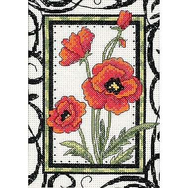 Blooming Poppies Mini Counted Cross Stitch Kit, 5