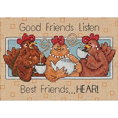 Good Friends Listen Mini Counted Cross Stitch Kit, 7