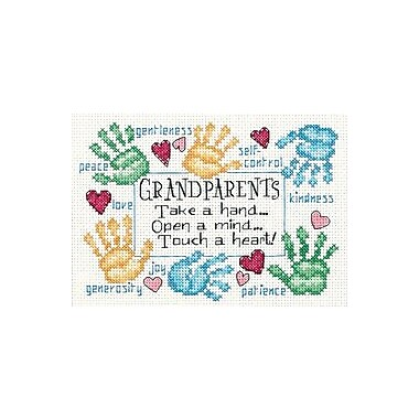 Grandparents Touch A Heart Mini Counted Cross Stitch Kit-7