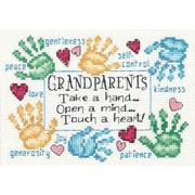 "Grandparents Touch A Heart Mini Counted Cross Stitch Kit-7""X5"" 14 Count"